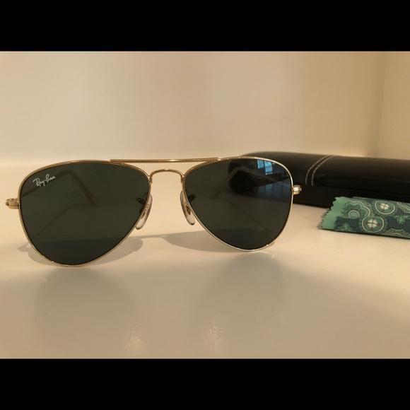 Ray-Ban Accessories - Ray-Ban Junior Aviators- Gold rimmed, black lenses 7497d1435684